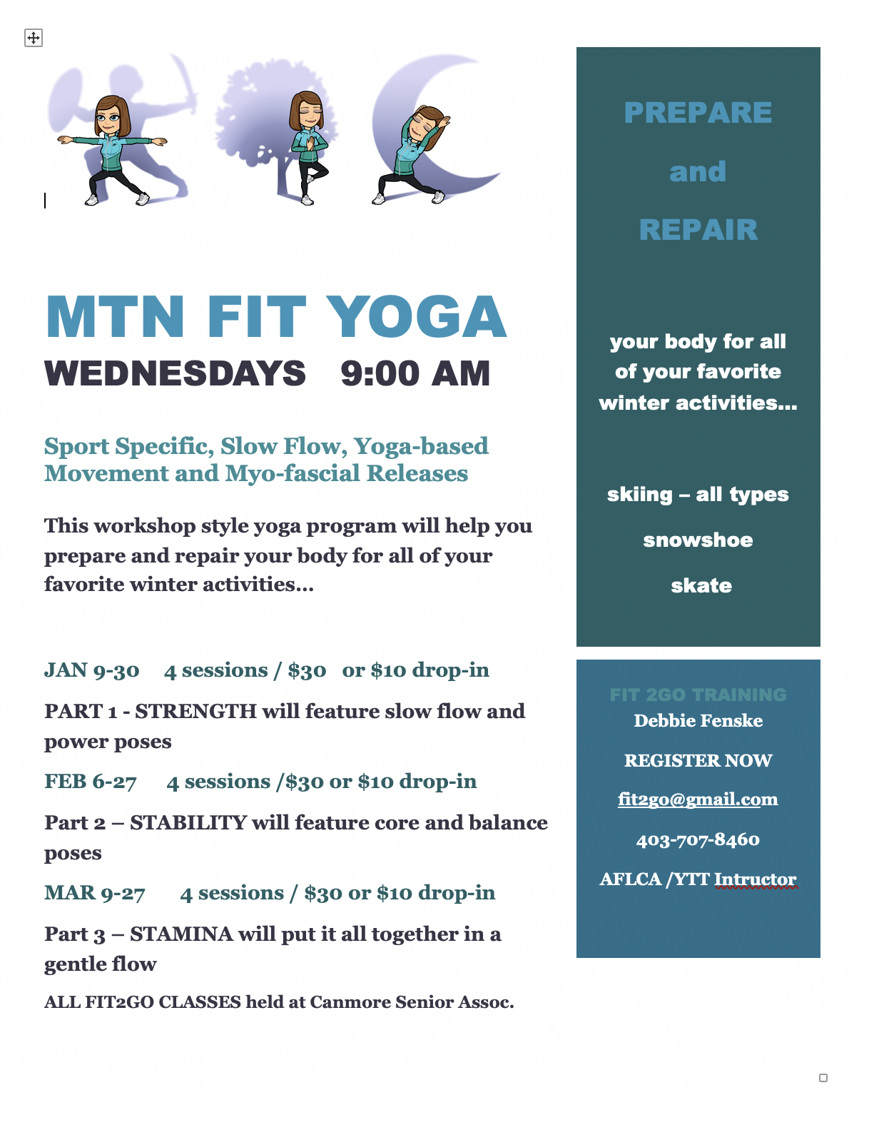Mtn Fit Yoga Wednesdays