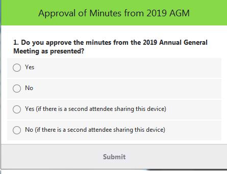 AGM Polling